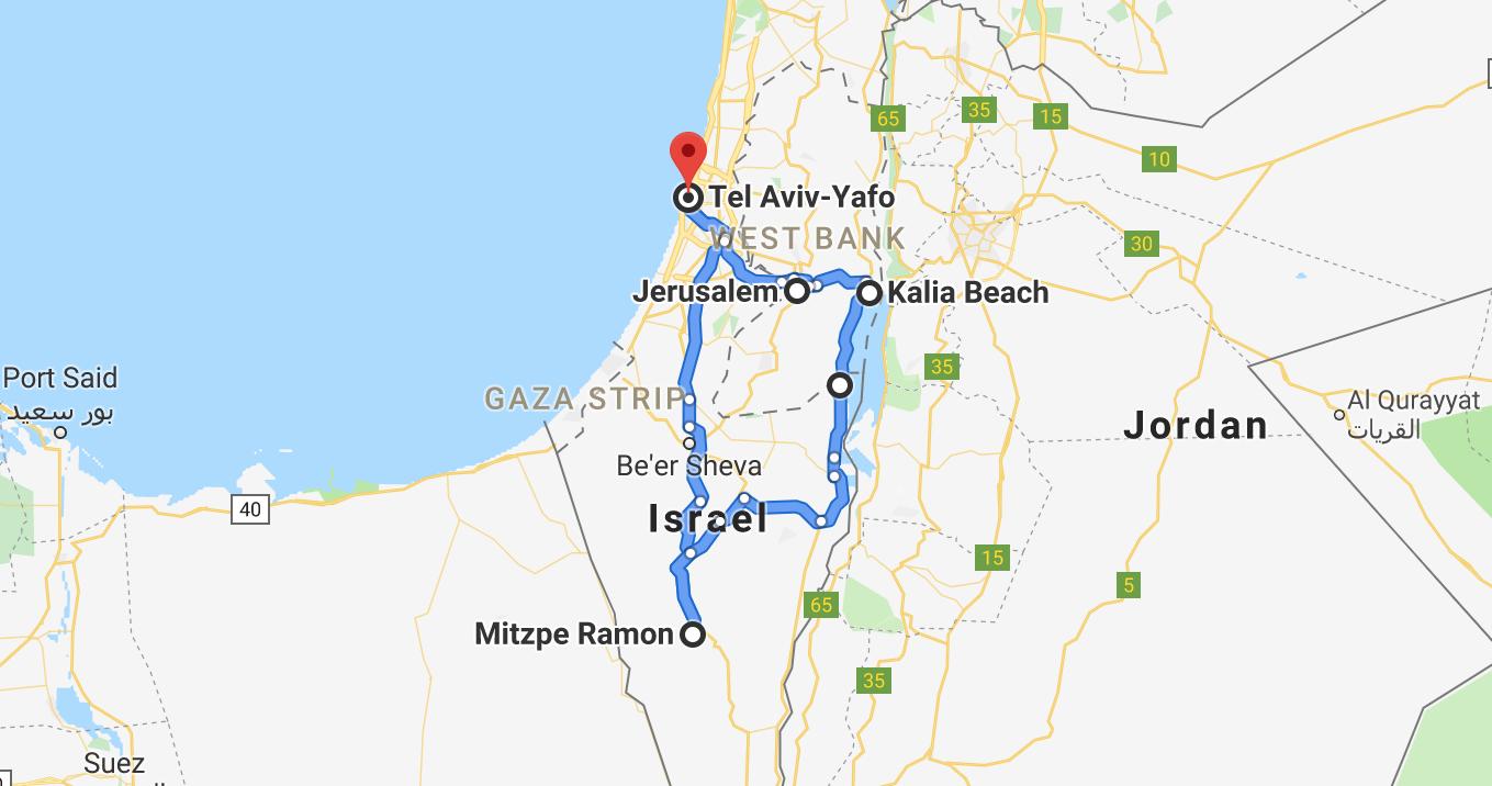 reiseroute-israel-7-tage